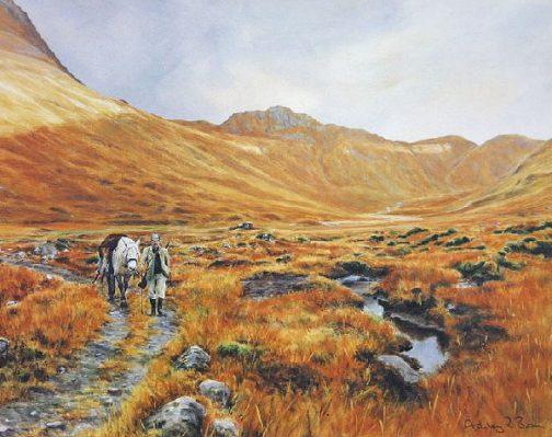 Red Deer Stalking, Hunting/Garron/ Images/Paintings/Art Hirsch/Jagd/Kunst/ Bild/ Gemälde